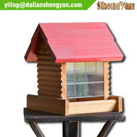 Decorative Wooden Bird Feeder/Cages Wholesale Bird House Feeder