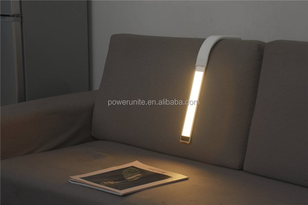 Desk light with 3000mah build-in battery and flexible colour changing for reading and eye protection.