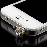 New design, cute beauty dust plug cell phone for iphone/ipad/ mini accessory