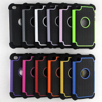 Shockproof Triple Hybrid Depender Armour Hard Silicone Cover Case For iPhone Samsung HTC LG Mobile Phone Combo Case
