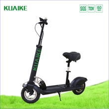 Dual Pedal assist li-ion battery kuaike electric folding scooter for off road and subway