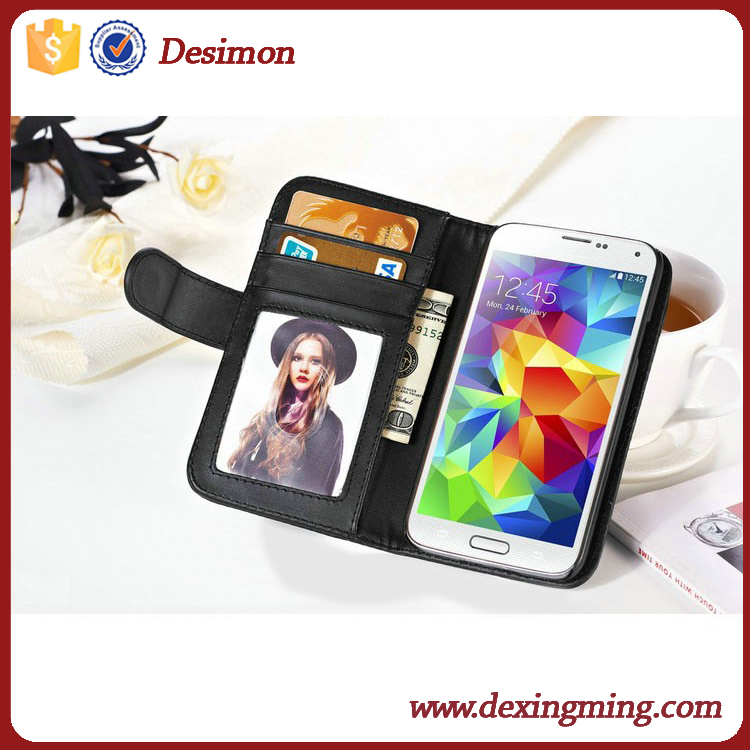 Waterproof wallet leather fancy cell phone cover case for samsung galaxy s5 s5 active
