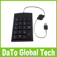 Mini Digital 19 Keys USB Number Keyboard Keypad For Laptop Desktop PC