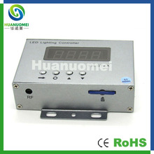 WS2811 WS2801 DMX digital pixels led programable controller ,4096pixels,4 output ports,SD card controller