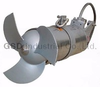 MA horizontal SUS submersible sewage mixer/agitator/reactor with CE