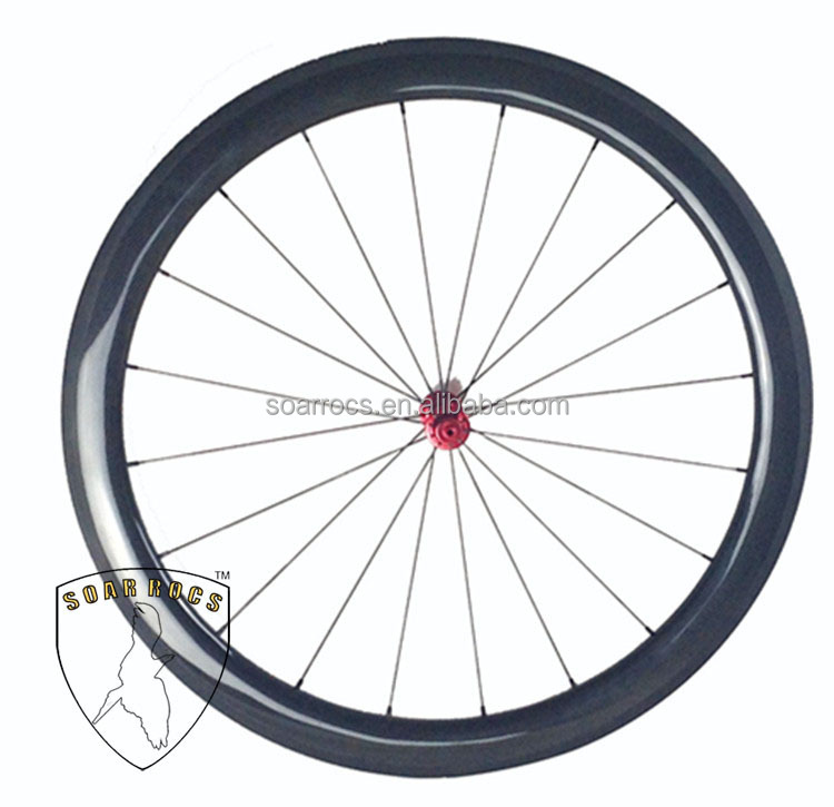 full carbon road wheels 50mm clincher 25mm width U shape chines bike wheel 3K glossy factory wholesale wheels