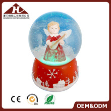 100mm angel musical snow globe for Christmas with led light