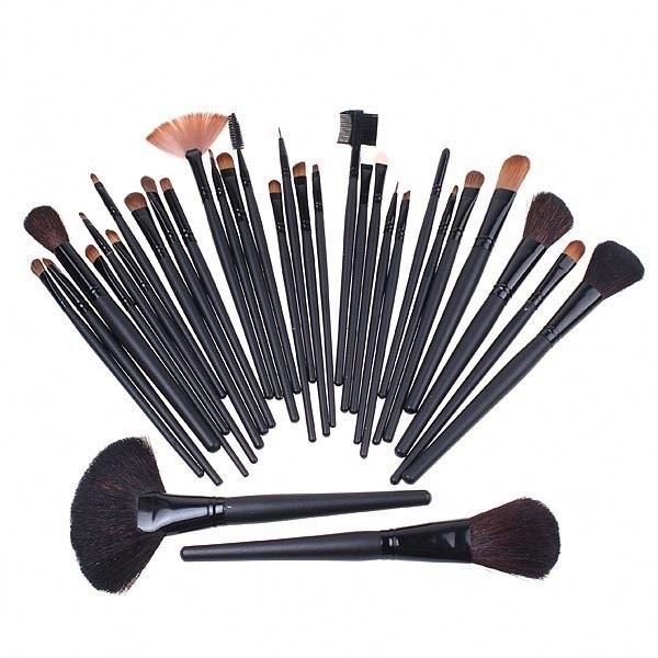 New 32 PCS Professional Custom Logo Kabuki Makeup Brushes Set Kit+ Pouch Bag Makeup Brushes Free Samples Brushes Makeup