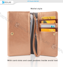 Unique card holder universal leather pouch, cell phone leather pouch cases