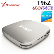 Aluminium Android tv box T96Z RK3399 TV Box 4GB RAM 64GB ROM Android 6.0 OS 2.4G/5.8G Dual band Wifi