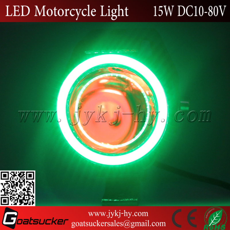 High low beam 6500k 7000k 15W led motorcycle/dirt bike driving lights
