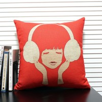 Vintage Reminiscence Contracted Design Cushion Cover Home Sofa Decorative Pillow Cover For Leaning On