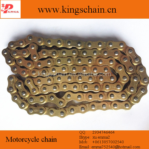 OEM quality parts wear-resist gold 428H motorcycle chain