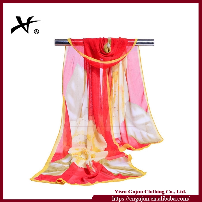 wholesale high quality silk shawl scarf 2016/girl gift wedding dress