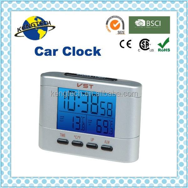 Low price 12V Digital Decoration back light thermometer Car Clock