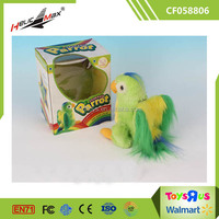 Battery Operated Plush Toys Colorful Small Parrot Birds for Sale
