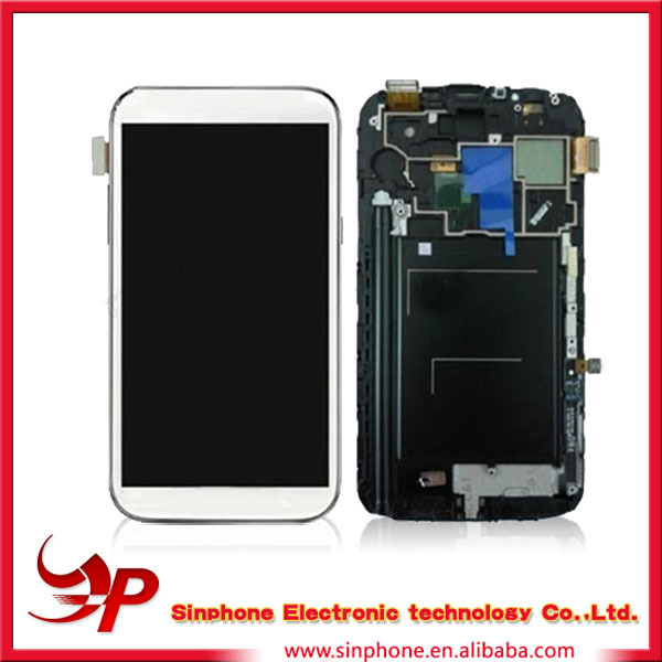 Mobile repair parts lcd for samsung galaxy note 2 lcd