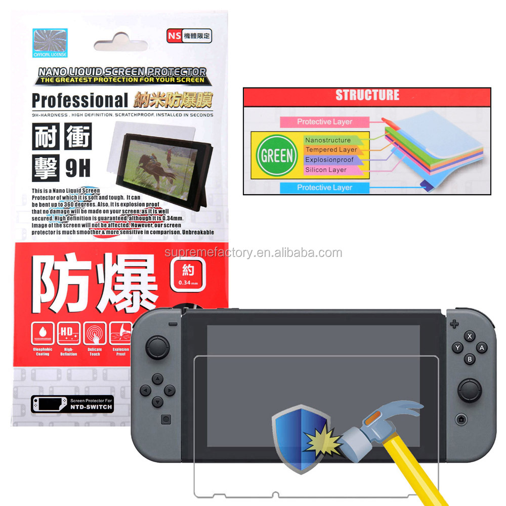 Project Design Nano Liquid Hard Screen Protector Film for Nintendo Switch NS