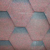 Chinese red color asphalt shingle roof shingle for roof tiles for sale