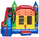 Indoor or outdoor crayon inflatable bouncer jumping house