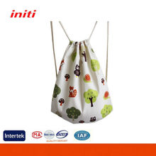 INITI 2016 OEM Factory Sale Drawstring Bag Cotton with Backpack