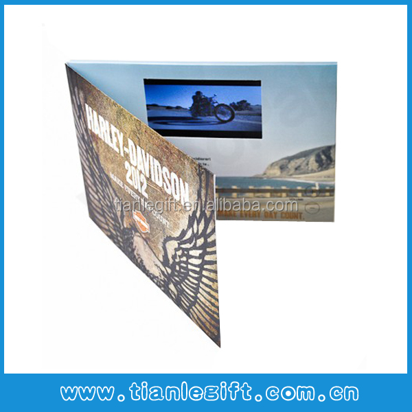Video greeting card digital photo frame LCD video brochure card