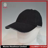 hot sell black 6 Panel Custom Sports Baseball Cap in good quality