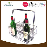 Best selling stainless steel display wine basket
