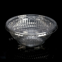 460ml transparent round plastic noodle bowl with lid, 460ml transparenthot soup bowls with plastic with lid