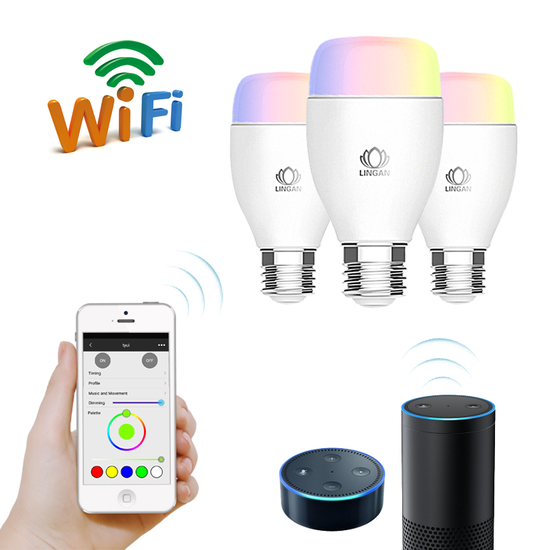 Energy-efficient WI-FI extending LED bulb smart lights wifi bulb with phone tablet