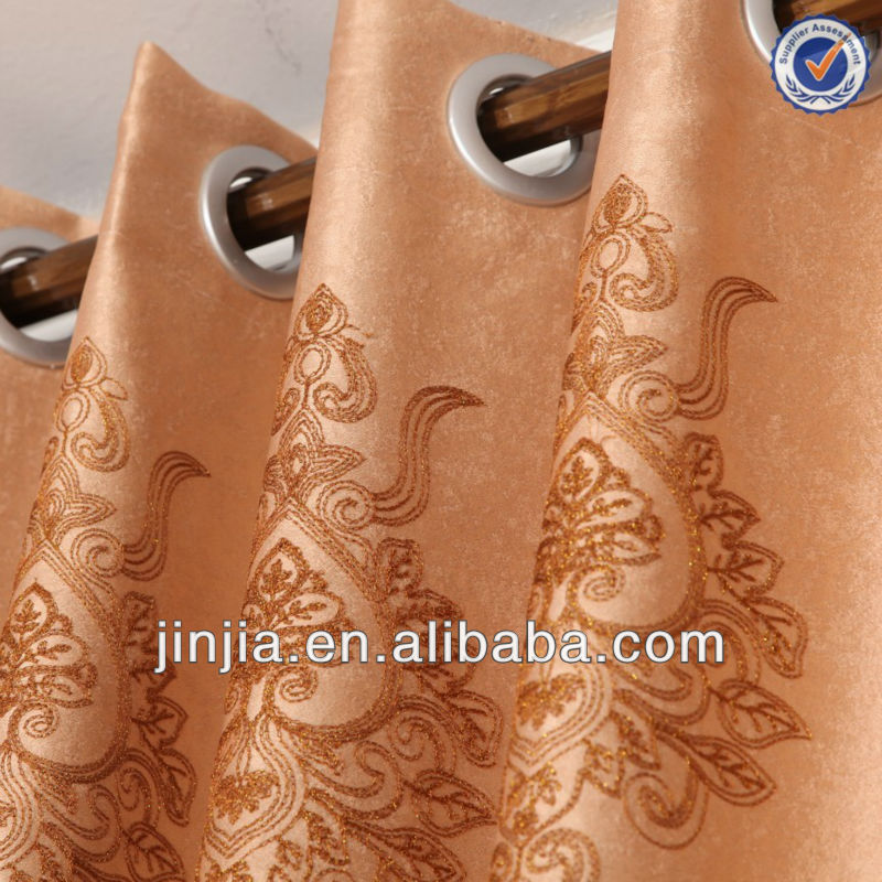 M3033 classial design fancy suede embroidery curtain fabric wholesale modern bedroom curtains from shaoxing