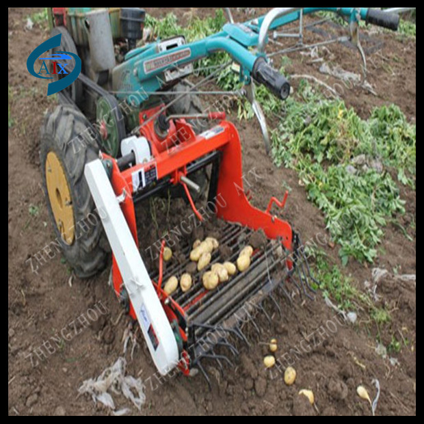 Small sweet potato harvester/single row potato harvester/potato harvesting machine for farm use