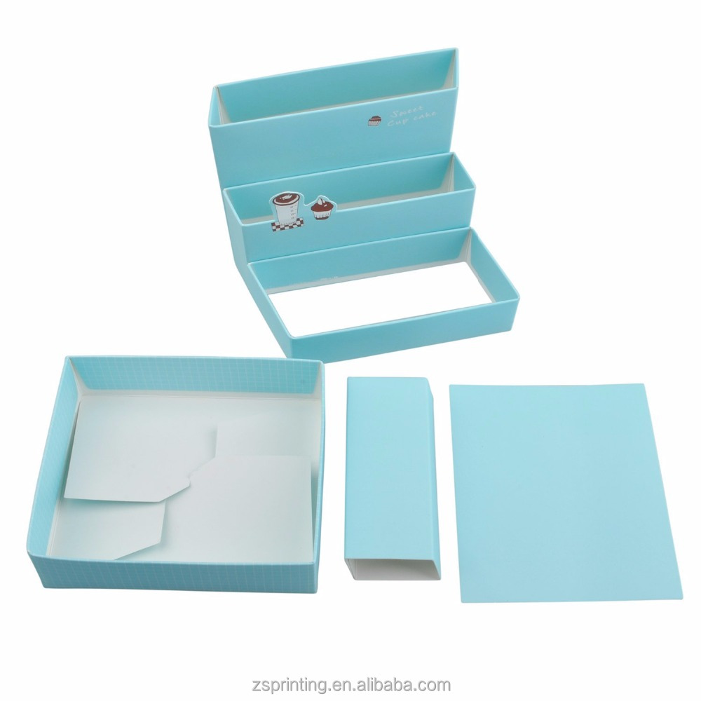 DIY Paper Board Storage Box Desk Organizer Stationery Cosmetic Box