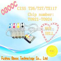 Realcolor Factory Wholesale CISS,Continous Ink Supply System For EP-SON T26/TX106/TX109 T0921-T0924