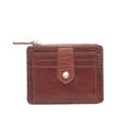 Manufacturer Handmade 4 slots belt with button closed real leather slim credit card holder