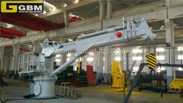Used Small size hydraulic telescopic folding boom marine lifing crane for sale with BV CCS CE Certification