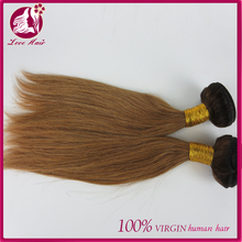 100% Straight Hair brazilian #2/30 mixed Brown color Virgin Hair Weaves For Black Women