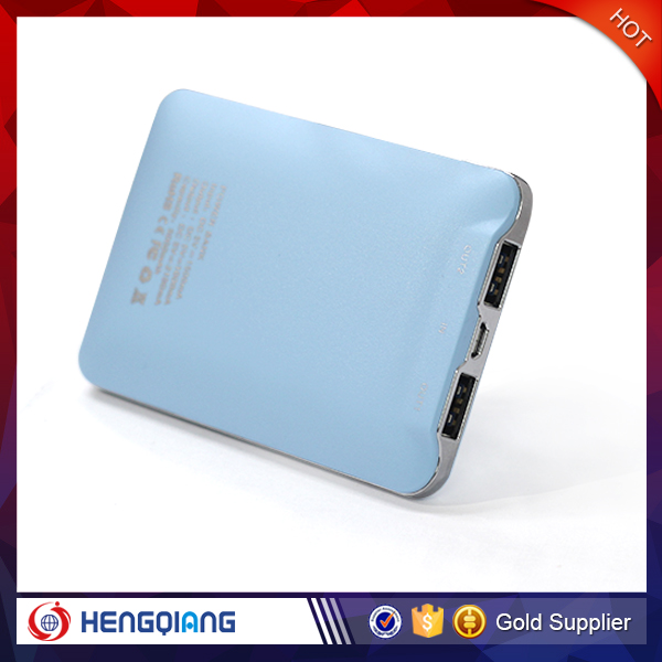 Promotional gift universal portable power bank,Mobile Power Bank support custom External Battery 5000mah power