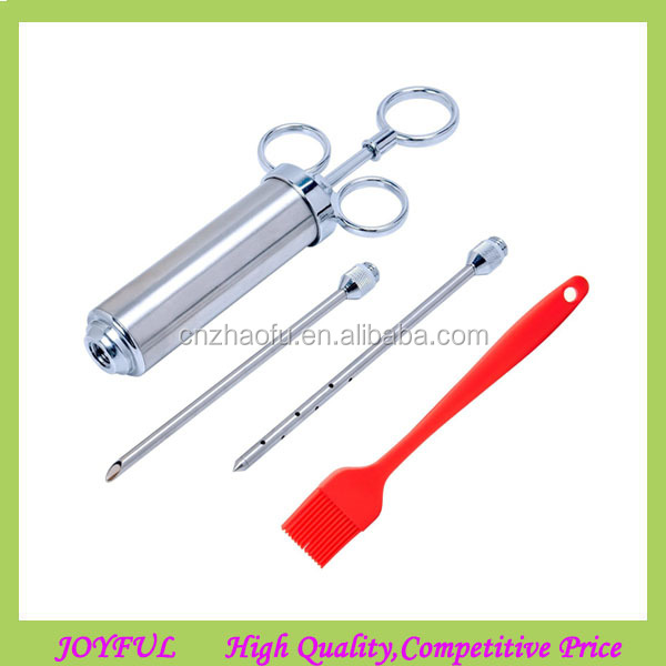 stainless steel BBQ Meat marinade injector