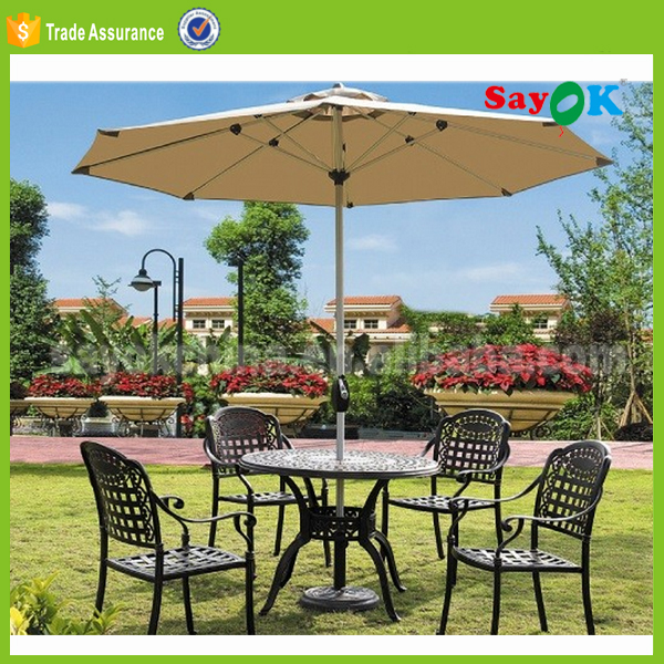 luxury patio umbrella mosquito netting 190t pongee umprella fabric 100% polyester