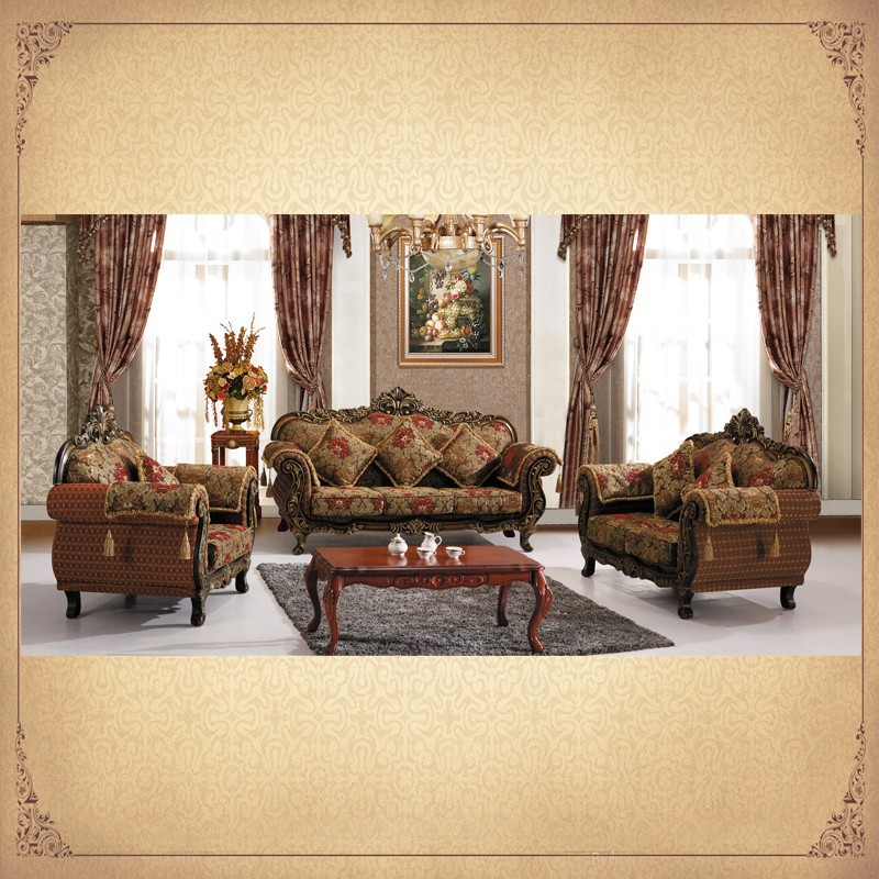 Antique Provincial Designs Heavily Ornate Gilt Italian Rococo Style Chinese Living Room Furniture