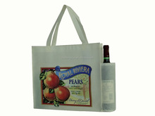 Large size storage use foldable pp lamination wine bag non woven fabric gift bag