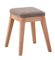 solid wood leg facbric stool seat small chair