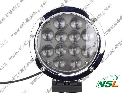 Waterproof Round 12pcs*5W LEDs CREE LED work light 60W Spot/Flood 10-60V led offroad driving light 5100LM TRUCK,BOAT,JEEP