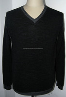 High quality silk cashmere knitted sweater soft hand feeling sweater design