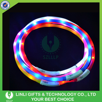 Wholesales Silicone Led Pet Safety Collar, Led Light Safety Collar, Light Up Pet Necklaces