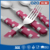 Western cuisine plastic handle anti-scald fork knife spoon china cutlery