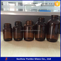 60ml,100ml,250ml,300ml,400ml,500ml amber glass tablet pharmaceutical Bottle