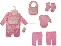 new shelves cheap affordable sweet pink stripe funny animal pattern 4 piece kids clothing boutique