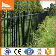 high security pvc coated galvanized zinc tubular steel fence for sale